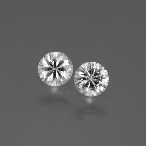White Sapphire Gem - 0.4ct Diamond-Cut (ID: 445588)