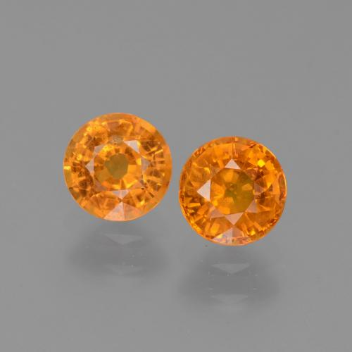 thumb image of 0.7ct Round Facet Yellow Orange Sapphire (ID: 446242)