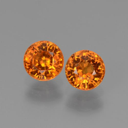 Medium Orange Sapphire Gem - 0.7ct Round Facet (ID: 446266)