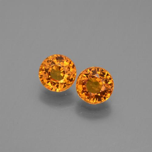 0.7ct Round Facet Yellow Orange Sapphire Gem (ID: 446288)
