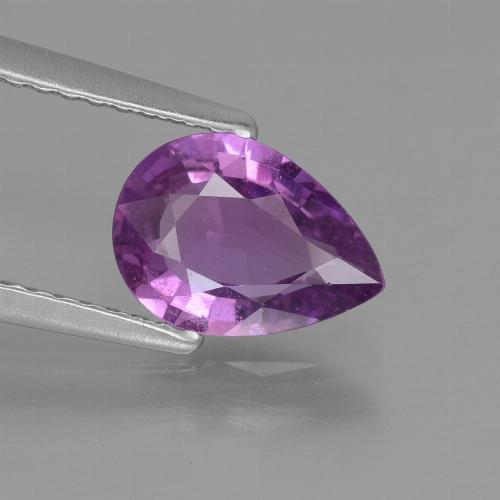 Pinkish Purple Sapphire Gem - 1.4ct Pear Facet (ID: 447676)