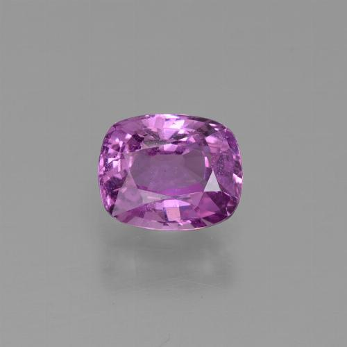 Medium-Dark Purple Zafiro Gema - 1.2ct Corte en Forma Cojín (ID: 447677)