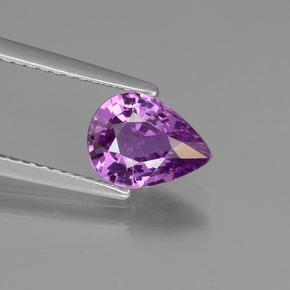 Purple Sapphire Gem - 1.5ct Pear Facet (ID: 447693)