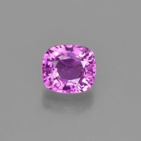 1.25 ct Cushion-Cut Purple Pink Sapphire Gemstone 6.29 mm x 5.7 mm (Product ID: 447696)