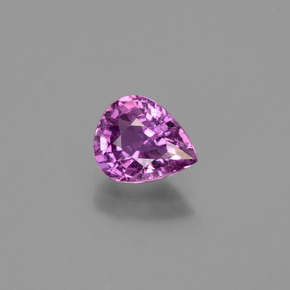 Pinkish Purple Sapphire Gem - 1.3ct Pear Facet (ID: 447699)