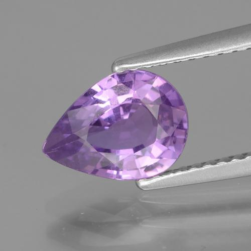 Pinkish Purple Sapphire Gem - 1.6ct Pear Facet (ID: 447722)