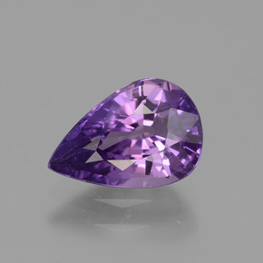 Purple Sapphire Gem - 1.8ct Pear Facet (ID: 447723)