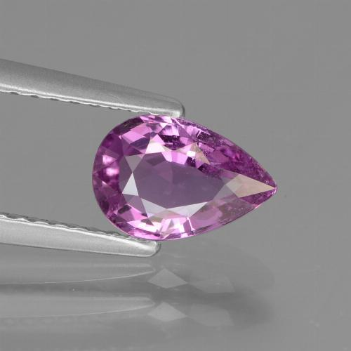Pinkish Violet Sapphire Gem - 1.1ct Pear Facet (ID: 447726)