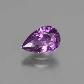 Purple Sapphire Gem - 1.4ct Pear Facet (ID: 447746)