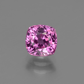Deep Pinkish Purple زفير حجر كريم - 1.2ct قص على شكل وسادة (ID: 447766)