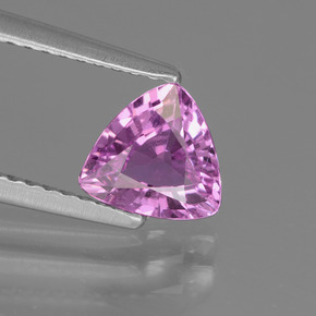 1.01 ct Trillion Facet Pinkish Violet Sapphire Gemstone 6.35 mm x 6.7 mm (Product ID: 447776)