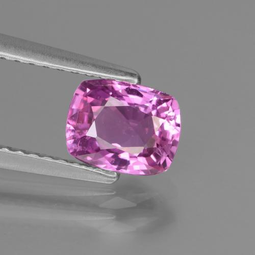 Intense Pinkish Purple 蓝宝石 Gem - 1.2ct 垫型切割 (ID: 447791)