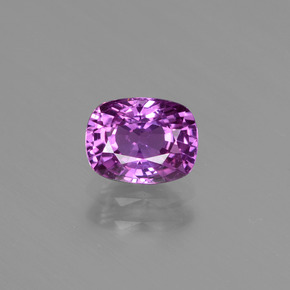 Purple Sapphire Gem - 1.2ct Cushion-Cut (ID: 447792)