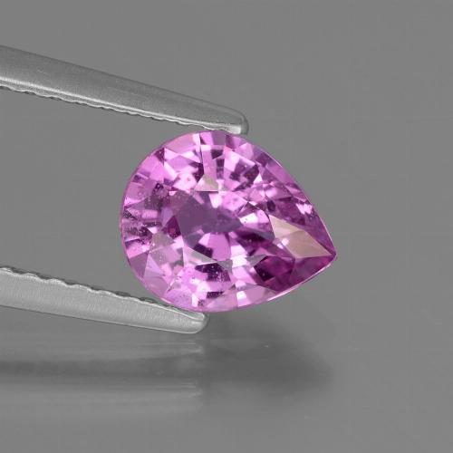 Pinkish Violet Sapphire Gem - 1.2ct Pear Facet (ID: 447799)