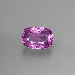Deep Pinkish Purple زفير حجر كريم - 1.2ct قص على شكل وسادة (ID: 447815)