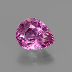 Royal Purple Pink Sapphire Gem - 1.9ct Pear Facet (ID: 447846)