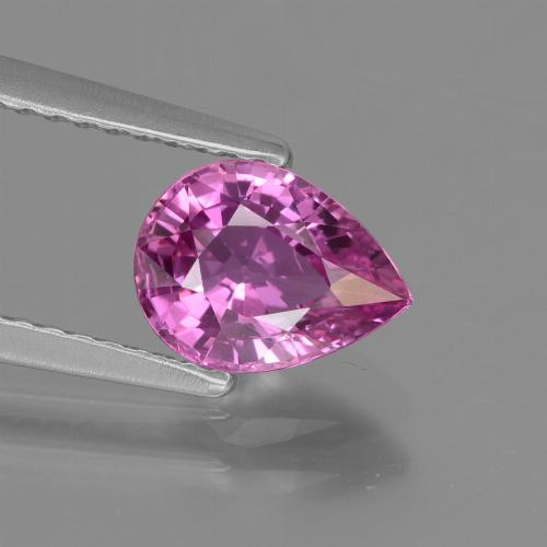 Medium-Dark Purple زفير حجر كريم - 1.4ct وجه كمثرى (ID: 447848)