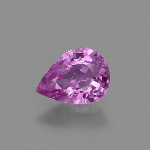 Medium-Dark Purple Zafiro Gema - 1.2ct Corte en forma de pera (ID: 447865)