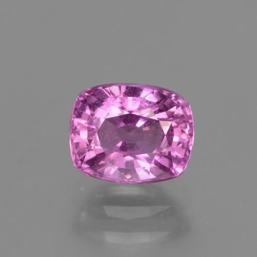 Intense Pinkish Purple Zaffiro Gem - 1.5ct Taglio a cuscino (ID: 447867)