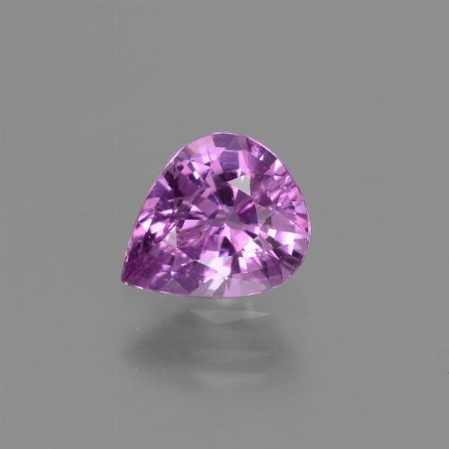 Pinkish Purple Sapphire Gem - 1.1ct Pear Facet (ID: 448507)