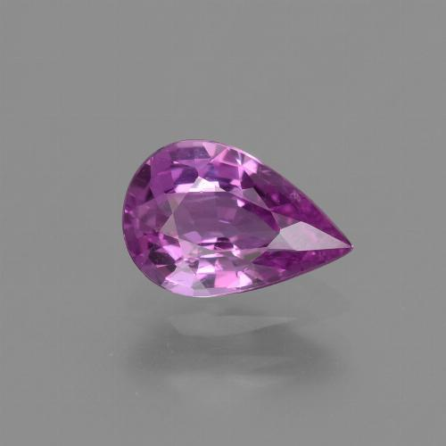 Pinkish Purple Sapphire Gem - 1.2ct Pear Facet (ID: 448510)
