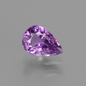Purple Sapphire Gem - 1.5ct Pear Facet (ID: 448512)