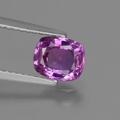 Medium-Dark Purple Zaffiro Gem - 1.3ct Taglio a cuscino (ID: 448530)
