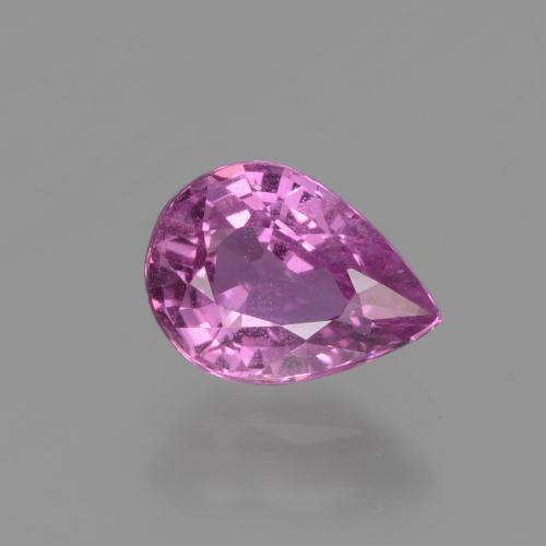 Hot Pink Sapphire Gem - 1.2ct Pear Facet (ID: 448580)