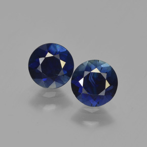 Deep Blue Sapphire Gem - 0.7ct Diamond-Cut (ID: 449649)