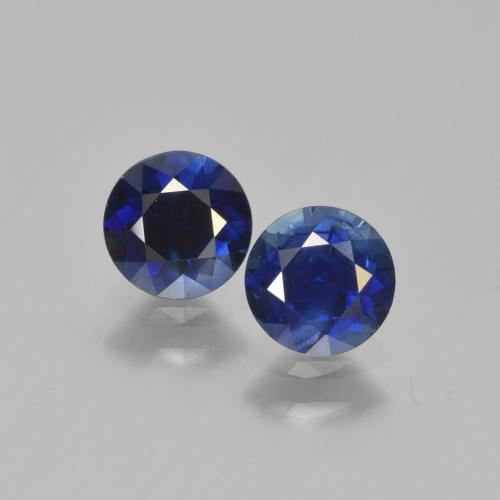 Azul real Zafiro Gema - 0.6ct Corte Diamante (ID: 449656)