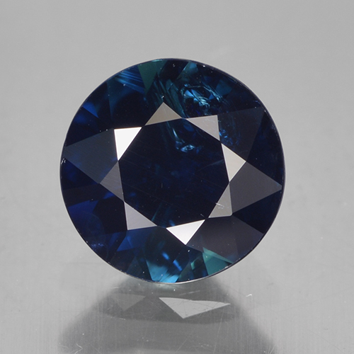 Night Blue Sapphire Gem - 0.8ct Diamond-Cut (ID: 449703)