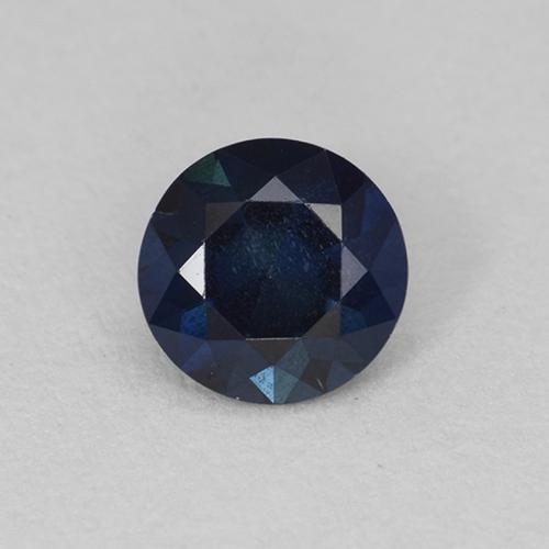 Dark Blue Sapphire Gem - 0.6ct Diamond-Cut (ID: 449705)