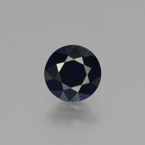 Deep Blue Sapphire Gem - 0.8ct Diamond-Cut (ID: 449725)