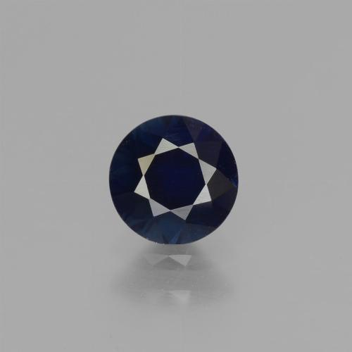 0.7ct Diamond-Cut Dark Blue Sapphire Gem (ID: 449728)