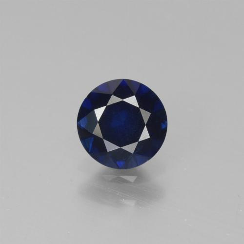 0.7ct Diamond-Cut Dark Blue Sapphire Gem (ID: 449732)