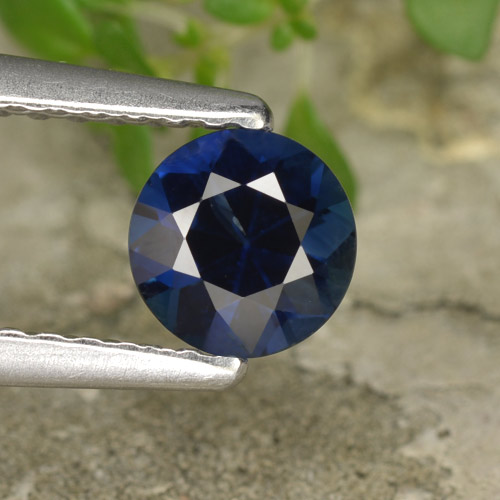 Blue Sapphire Gem - 0.6ct Diamond-Cut (ID: 449745)