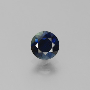 0.8ct Diamond-Cut Dark Blue Sapphire Gem (ID: 449754)