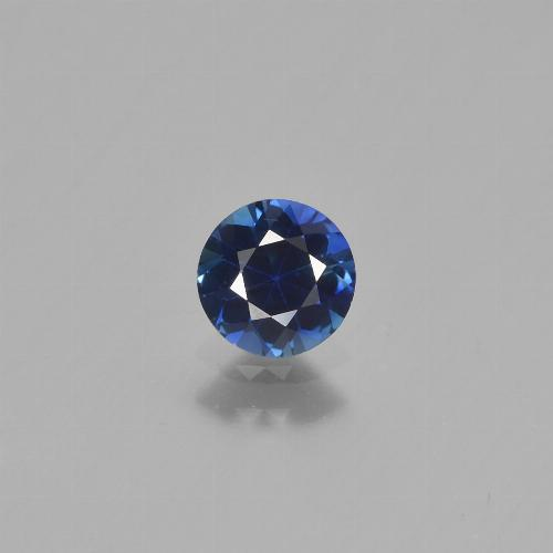 0.6ct Diamond-Cut Dark Blue Sapphire Gem (ID: 449774)