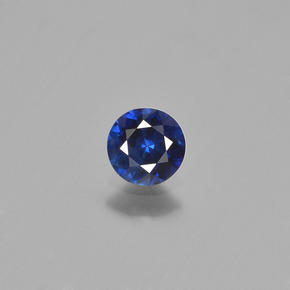 0.5ct Diamond-Cut Blue Sapphire Gem (ID: 449777)