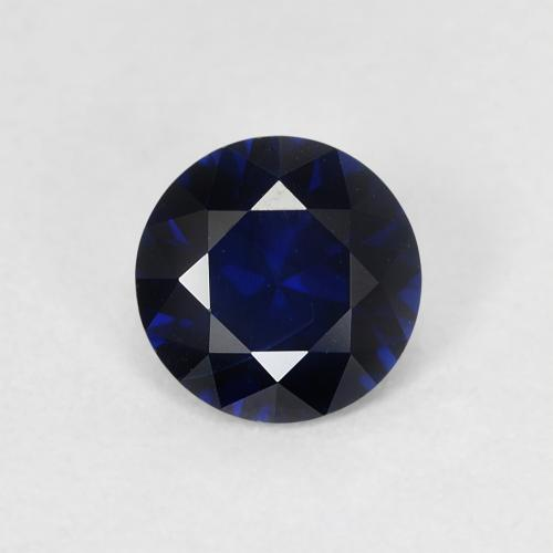 Navy Blue Zafiro Gema - 0.8ct Corte Diamante (ID: 449779)