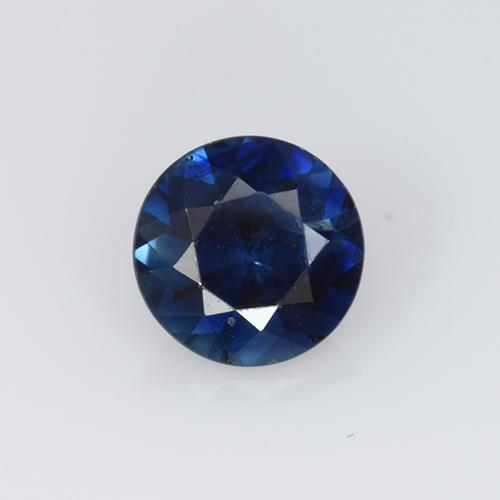 0.5ct Diamond-Cut Dark Blue Sapphire Gem (ID: 449817)