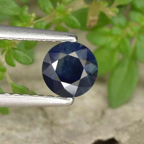 Blue Sapphire Gem - 0.6ct Diamond-Cut (ID: 449818)