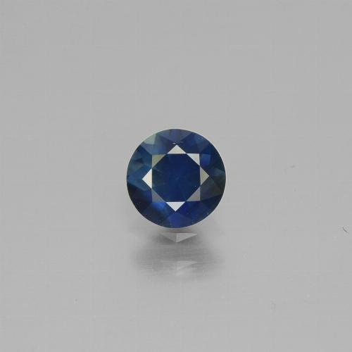 0.6ct Diamond-Cut Dark Blue Sapphire Gem (ID: 449828)