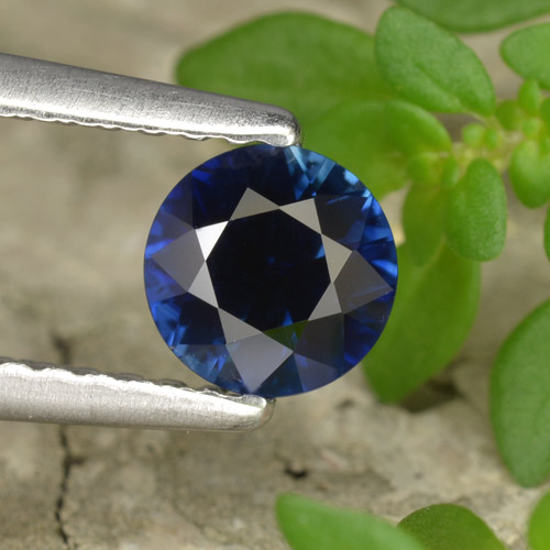 Blue Sapphire Gem - 0.5ct Diamond-Cut (ID: 449858)