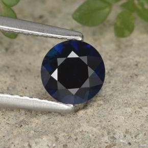 Blue Sapphire Gem - 0.9ct Diamond-Cut (ID: 449878)