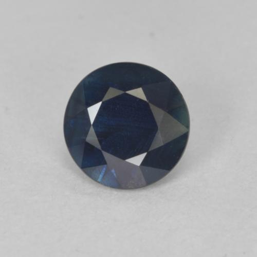 0.8ct Diamond-Cut Dark Blue Sapphire Gem (ID: 449902)