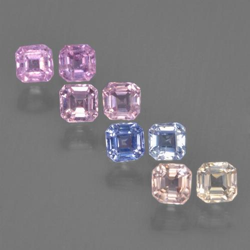Multicolor Sapphire Gem - 0.2ct Octagon Step Cut (ID: 450093)