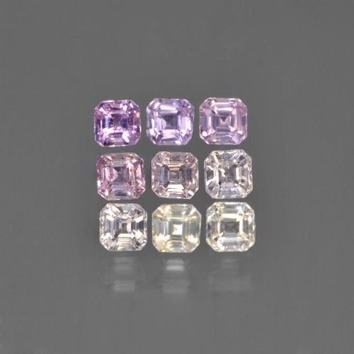 Multicolor Sapphire Gem - 0.2ct Octagon Step Cut (ID: 450096)