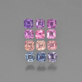 Multicolor Sapphire Gem - 0.1ct Octagon Step Cut (ID: 450162)