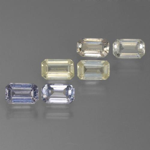 Multicolor Sapphire Gem - 0.4ct Octagon Step Cut (ID: 450517)